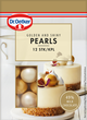 Golden and shiny pearls packshot