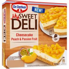 Peach & Passion fruit cheesecake 555g
